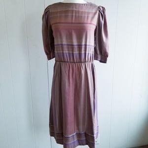 1980s ILGWU Poly/Cotton Dress